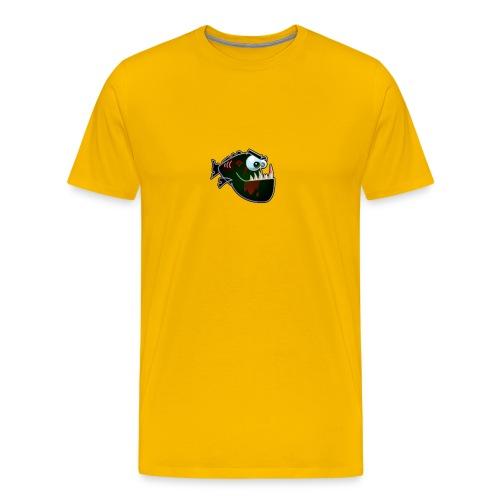 zombie piranha by riclumbd4uapds - Männer Premium T-Shirt