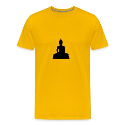 Buddha Silhouette schwarz - Männer Premium T-Shirt