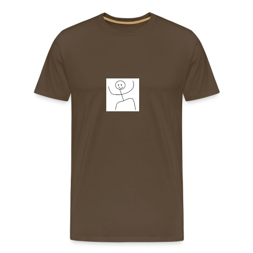 lady t-shirt stick man - Herre premium T-shirt