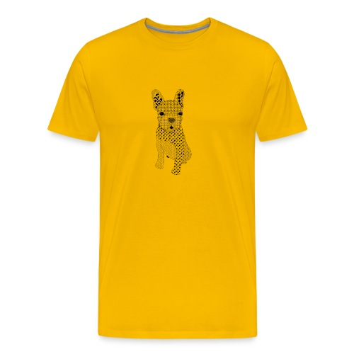 Bulldog puppy patroon - Mannen Premium T-shirt