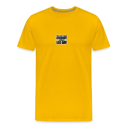 LEG DAY - Premium-T-shirt herr