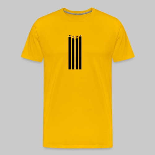 rayzor streifen logo - Männer Premium T-Shirt