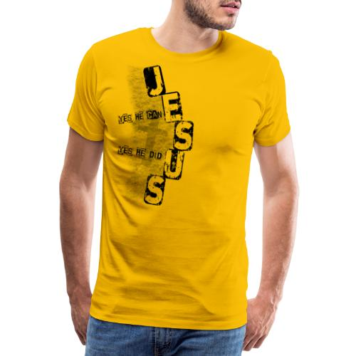Jesus yes he can schwarz - Männer Premium T-Shirt