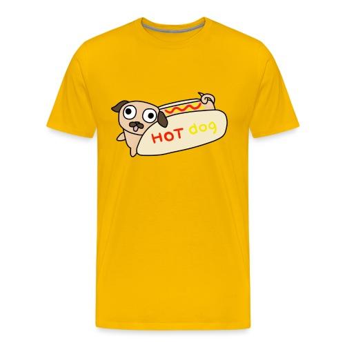 Hot Dog Lisa - Premium-T-shirt herr