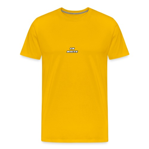 FNWhite SpreadShirt - Men's Premium T-Shirt