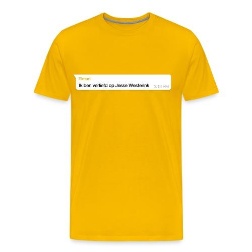 Jesse Westerink Geel - Mannen Premium T-shirt