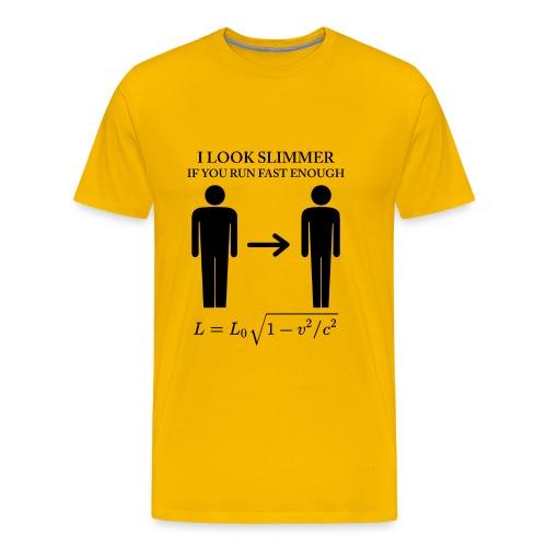 I look slimmer - Men's Premium T-Shirt