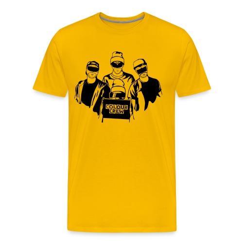 colour crew logo black 11000x9500px png - Männer Premium T-Shirt
