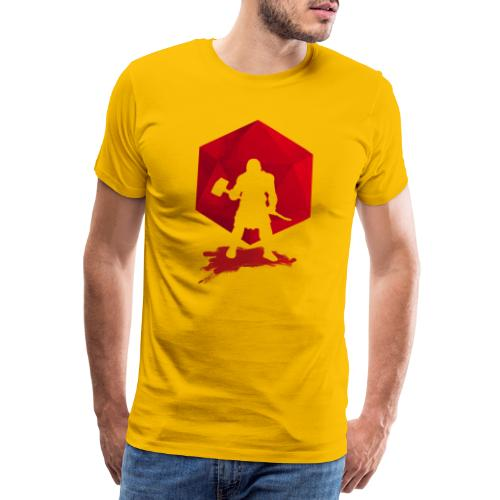 Barbare brutal - Donjons et Dragons dnd d20 - T-shirt Premium Homme