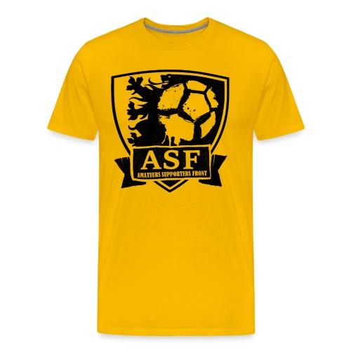 ASF logo witte achtergrond - Mannen Premium T-shirt