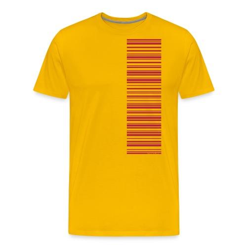 Barcode-T-Shirt Volleyballer - Männer Premium T-Shirt