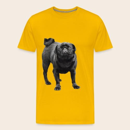 schwarzer Mops - Männer Premium T-Shirt