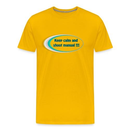 Keep calm and shoot manual slogan - Men's Premium T-Shirt