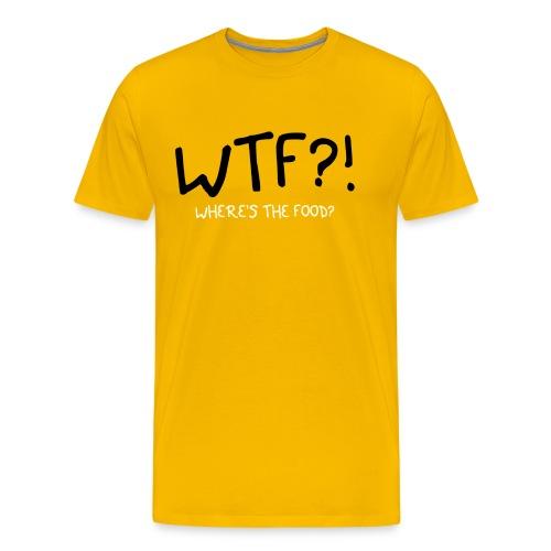 wtfwheresthefoodwhite - Men's Premium T-Shirt