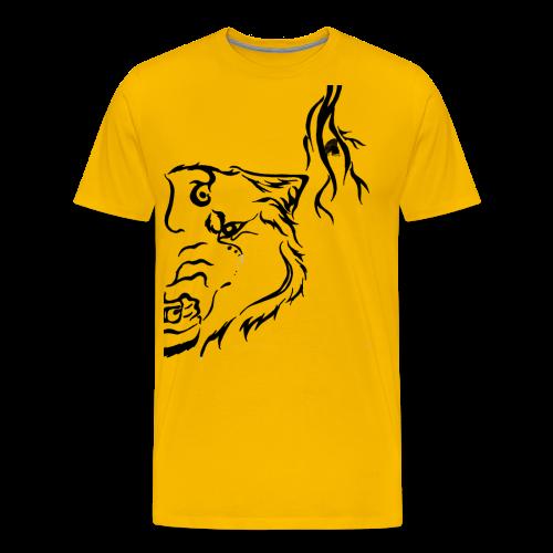 Black Wolf Thunder - Männer Premium T-Shirt
