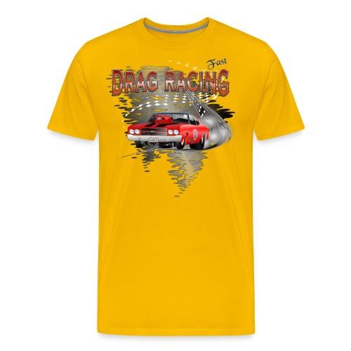 Dragster / Drag Racing Motiv mit Chevy Chevelle - Männer Premium T-Shirt