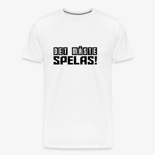 DetMasteSpelas png - Premium-T-shirt herr