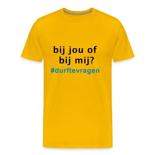 bij jou of bij mij - Mannen Premium T-shirt