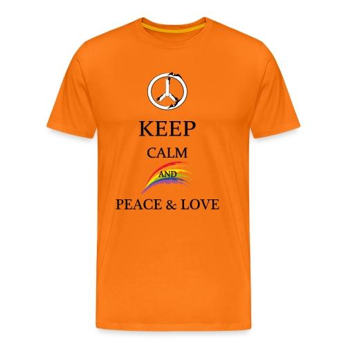 keep calm and Peace & Lov - Maglietta Premium da uomo