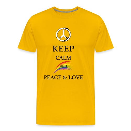 keep calm and Peace & Lov - Maglietta Premium da uomo
