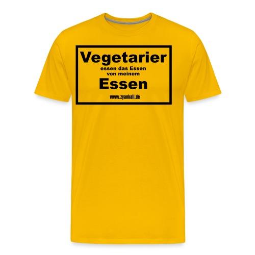 vegatarier_essen_das_essen - Männer Premium T-Shirt