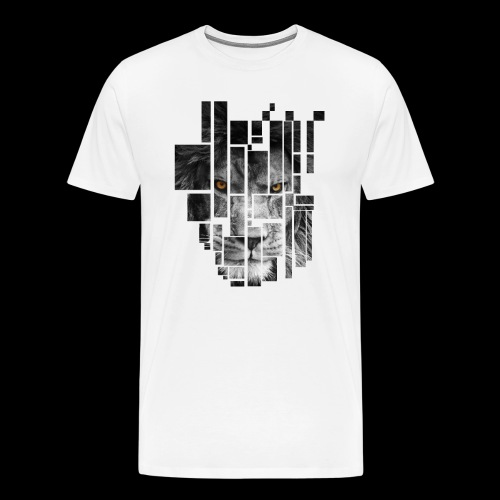 Pixel Lion Tattoo Inspire - Men's Premium T-Shirt