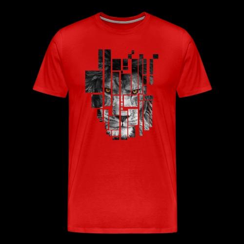 Pixel Lion Tattoo Inspire - Men's Premium T-Shirt
