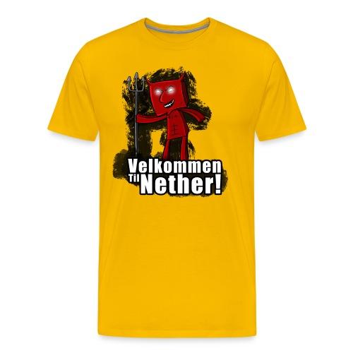velkommen til nether 1 png - Premium T-skjorte for menn