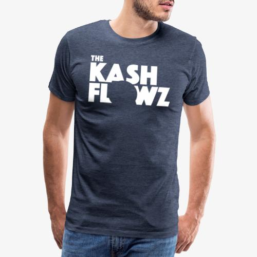 The Kash Flowz Official Logo White - T-shirt Premium Homme