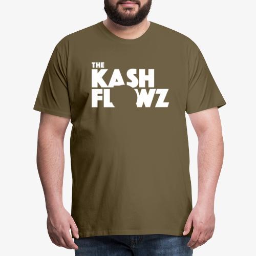 The Kash Flowz Official Logo White - T-shirt Premium Homme