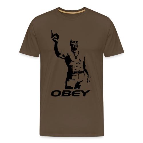technoviking obey nero - Maglietta Premium da uomo