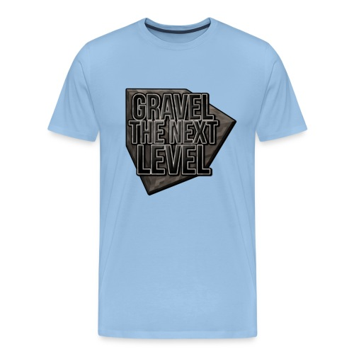 gravelthenextlevel png - Mannen Premium T-shirt