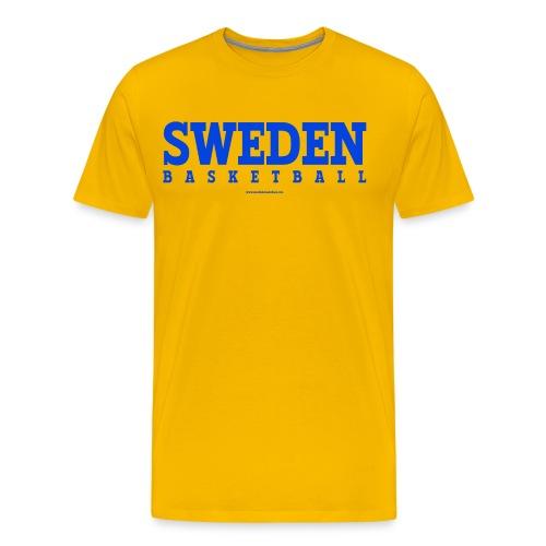 Sweden Basketball Blue - Premium-T-shirt herr