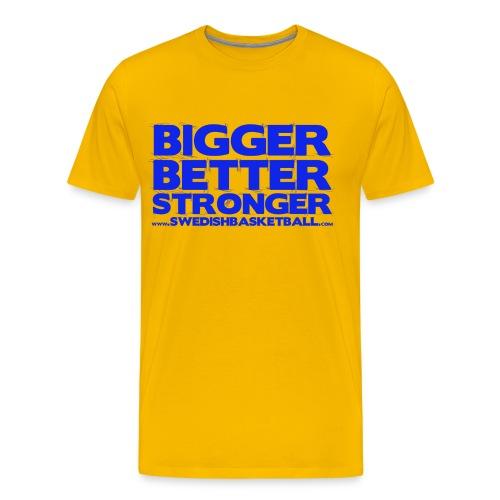 Bigger Better Stronger Blue - Premium-T-shirt herr