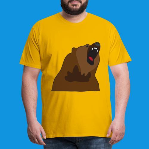 Growling Bear - Men's Premium T-Shirt