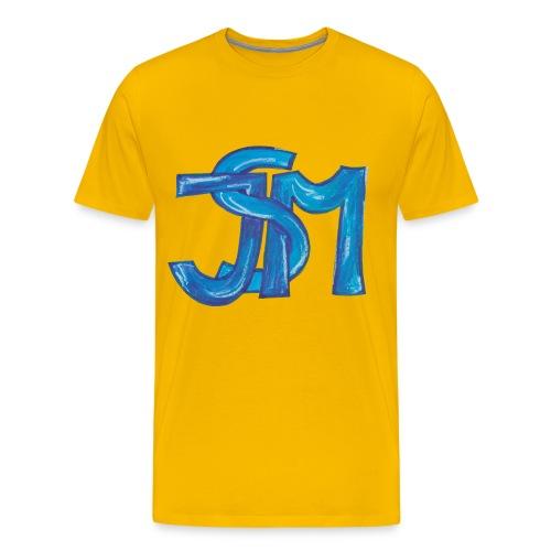 verschlungenes S blau - Männer Premium T-Shirt