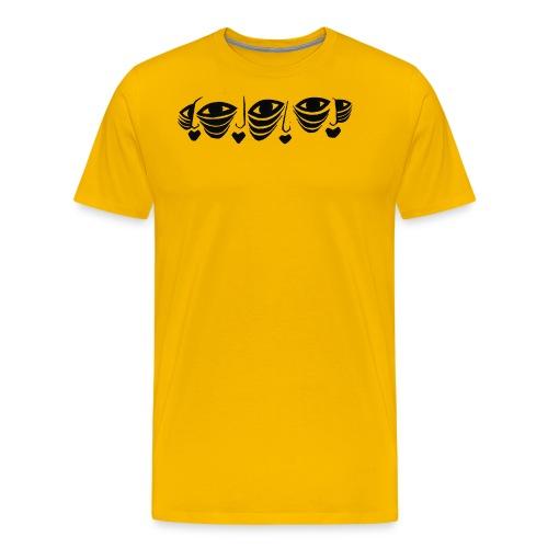 Faces On Faces Illustration 1 - Men's Premium T-Shirt