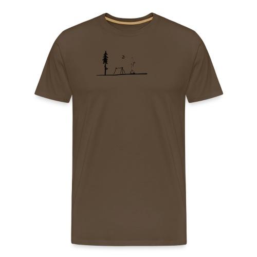 Landscape camping fire - Maglietta Premium da uomo