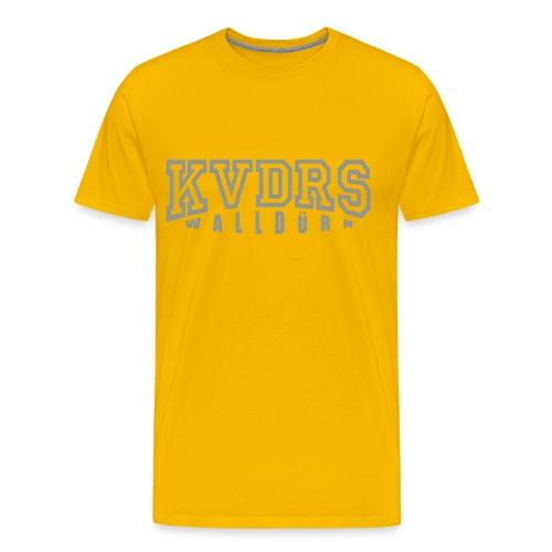 Logo groß Hintergrund hell - Männer Premium T-Shirt