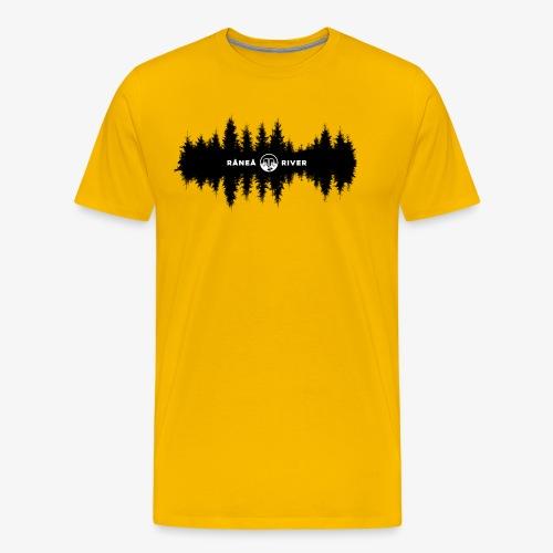 Råneå River reflections - Premium-T-shirt herr