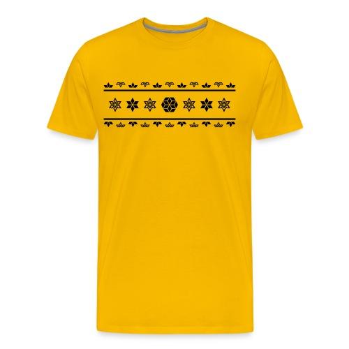 Norweger Muster Stern - Männer Premium T-Shirt