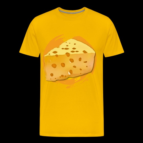 Cheese HD png - Herre premium T-shirt