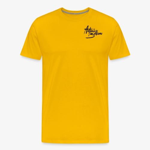 Antonio Balkana Logo (Black/Schwarz) - Männer Premium T-Shirt