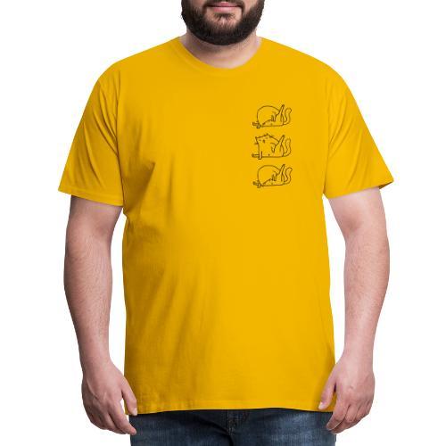 3 Cats - Männer Premium T-Shirt