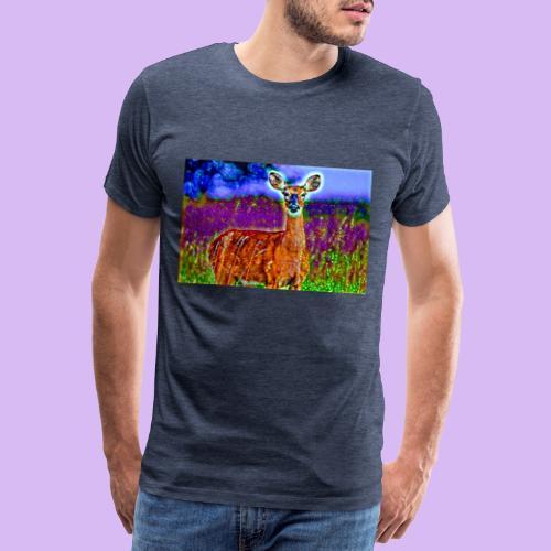 Cerbiatto con magici effetti - Maglietta Premium da uomo