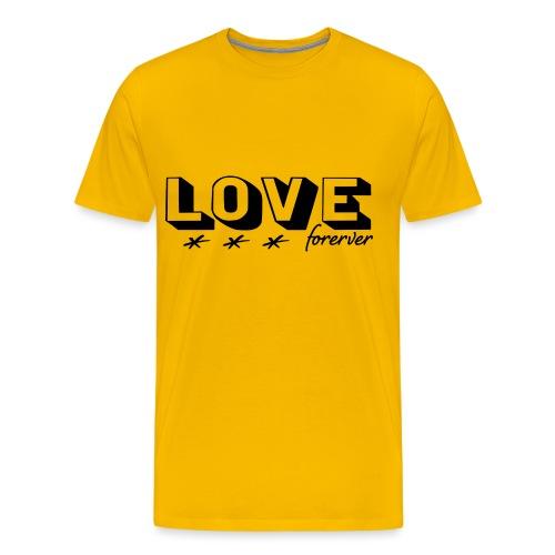 Love forever ewige Liebe Hochzeit Ehe Geschenk - Männer Premium T-Shirt