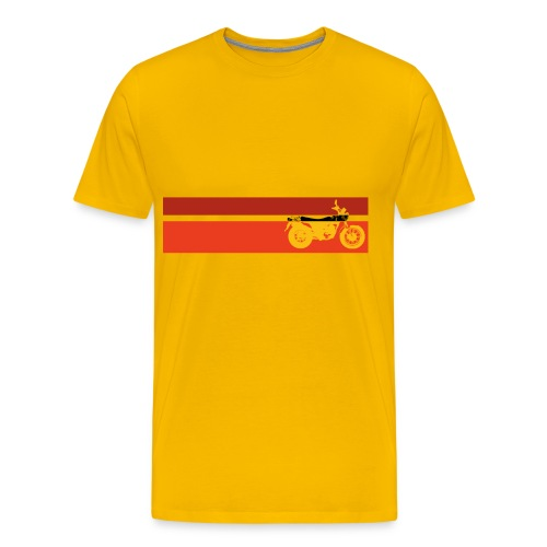 vv yellow k6 stripes - Men's Premium T-Shirt