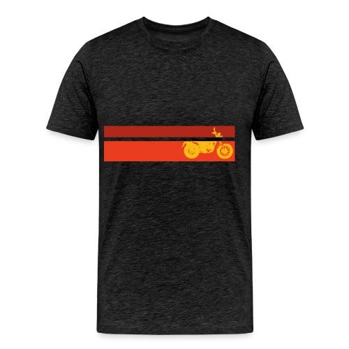 vv yellow k6 stripes - Men's Premium T-Shirt