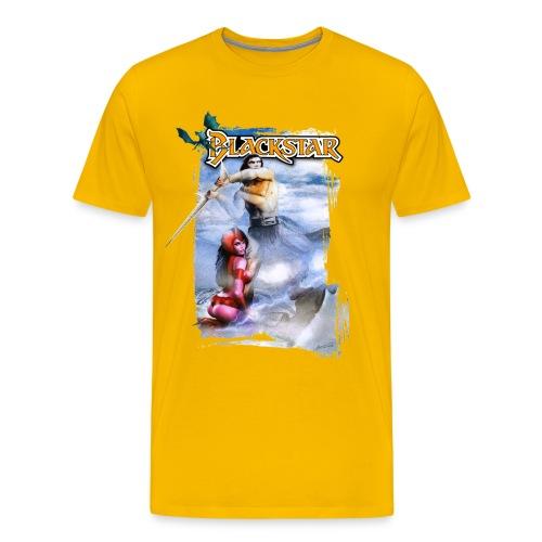 blackstar tshirt plat gif - Mannen Premium T-shirt