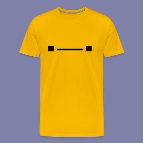 Middle Blocky Face - Men's Premium T-Shirt
